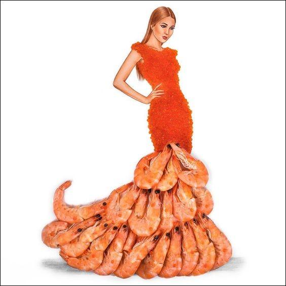 Sous les applaudissements, ce mannequin arbore une robe ravissante. Quant à sa traîne...
