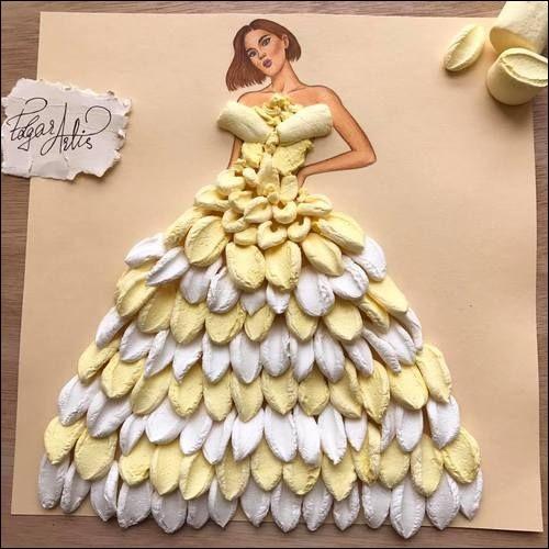 Voici la dernière collection d'été d'un grand couturier : quelle critique obtiendra cette robe prestigieuse ?
