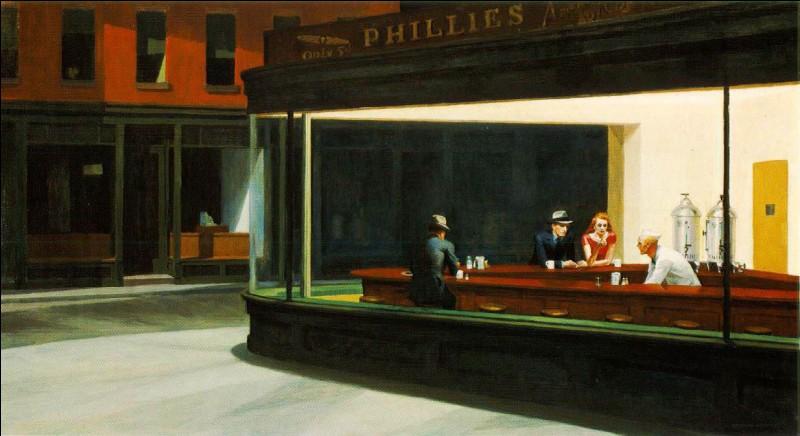 "De quel peintre est le tableau intitulé ""Nighthawks"" ?"