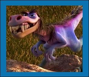 Bubbha, un cruel « vélociraptor » à la peau bleue et mauve, est le chef d'une bande de voleurs de bétail dans :