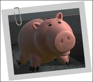 Bayonne est le cochon « tirelire » d'Andy Davis dans :