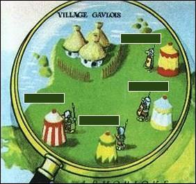 Quel est le village romain le plus proche du village d'Astérix ?