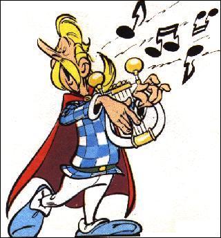 Comment s'appelle le barde du village qui casse les oreilles de tout le monde (surtout les soirs de banquet !) ?