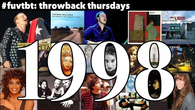 Et quelle chanson est sortie en 1998 ?