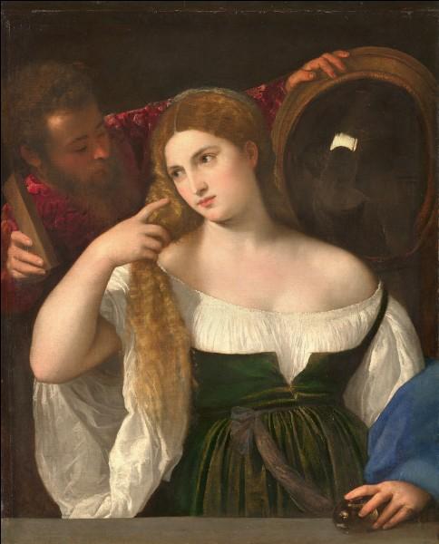 """Quel peintre italien est l'auteur du tableau """"La Femme au miroir"""" ?"""