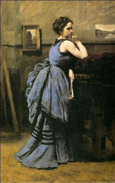 """Autre toile française, qui a réalisé """"La Dame en bleu"""" ?"""