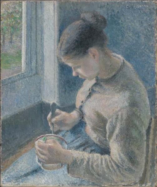 """Quel impressionniste a peint """"Jeune paysanne prenant son café"""" ?"""