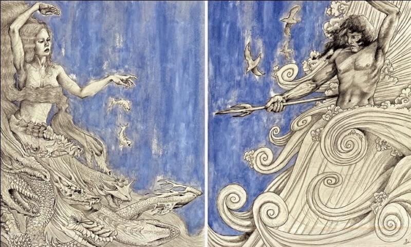 Leur union dans la mythologie mésopotamienne symbole de l'eau salée et douce, forma les vagues de tout être et toute chose. Qui sont-ils ?