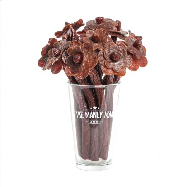 Toujours dans les 50 beurlos*, voici le bouquet comestible ! En quoi est-il fait ?