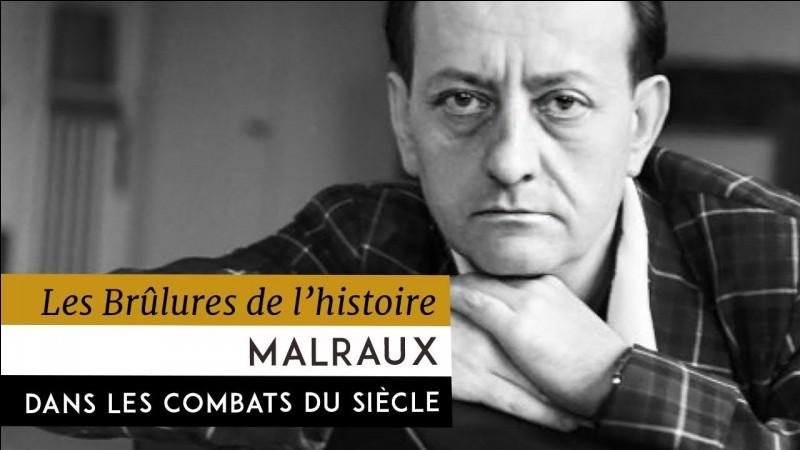 Quel ouvrage n'est pas d'André Malraux ?