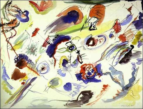 """Quel peintre russe est, cette année, considéré comme l'inventeur de l'art abstrait avec cette toile intitulée """"Improvisation 10"""" ?"""