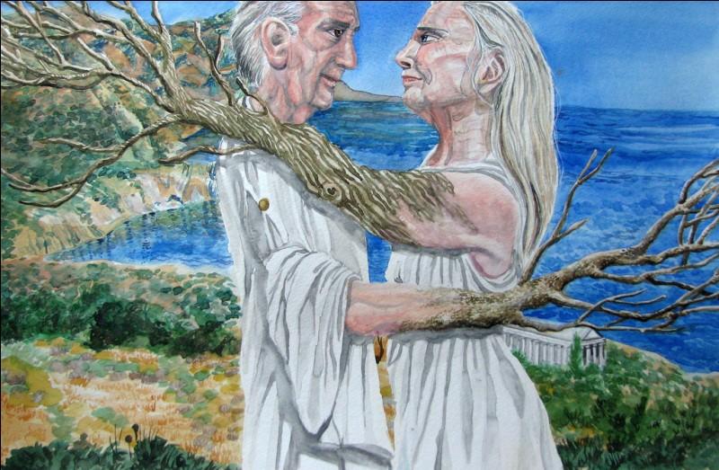 Quel couple de la mythologie grecque symbolise l'amour conjugal éternel ?