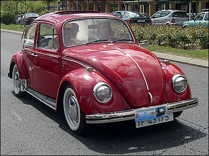 De quelle voiture se sont inspirés les ingénieurs de chez Volkswagen pour construire la Coccinelle ?