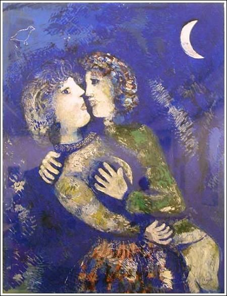 """De qui est le tableau """"Les Amoureux à la demi-Lune"""" ?"""