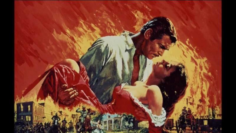 """Dans """"Autant en emporte le vent"""", on frémit aux amours contrariées de Clark Gable et de sa partenaire à l'écran..."""