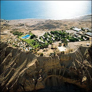 C'est un site d'exception sur la rive occidentale de la Mer Morte, aux confins du désert de Judée : il est mentionné dans la Bible. On y trouve plusieurs cascades d'eau fraîche.Quelle est cette réserve naturelle, aujourd'hui Parc National, ce lieu qui a vu s'affronter Saül et le roi David ?