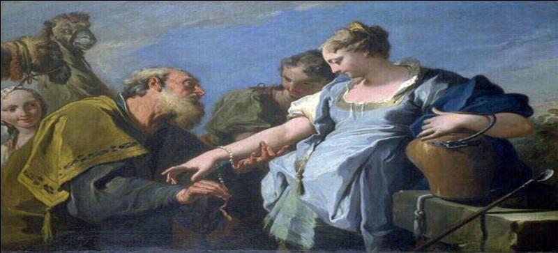 De qui Rébecca, séduisante vierge avant d'être l'une des quatre matriarches, est-elle l'épouse ?