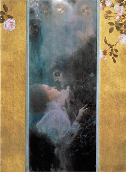 Ce tableau intitulé ''L'Amour'' est de Klimt. Quel est son prénom ?