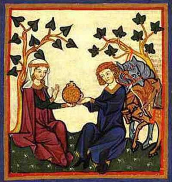 Au Moyen Âge, quel qualificatif employait-on pour définir un amour idéal de sentiments et de comportements ?