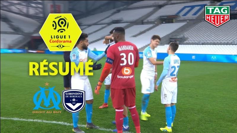 Qui a inscrit le seul et unique but lors de la rencontre Marseille-Bordeaux ?