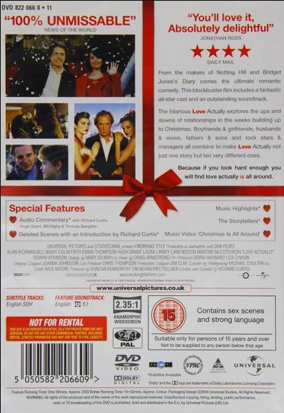 """Film d'amour humoristique.""""Love Actually"""" est un film interprété par Hugh Grant."""