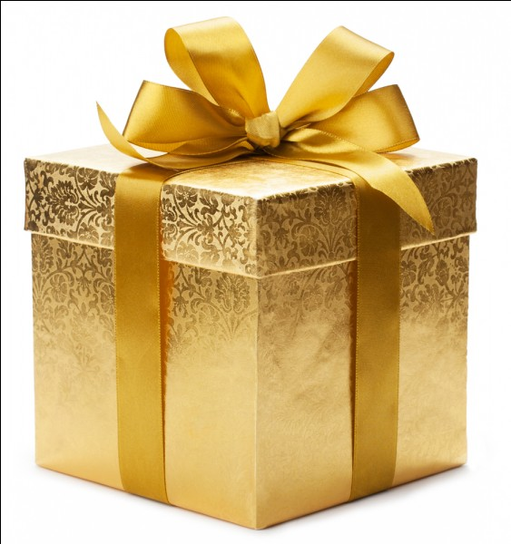 Enfin comment dit-on le mot cadeau en anglais ?