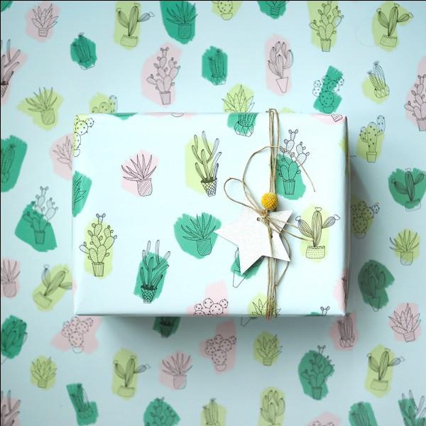Avec quoi emballe-t-on généralement un cadeau ?