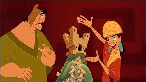 """Dans """"Kuzco, l'empereur mégalo"""", en quoi Yzma la conseillère transforme-t-elle Kuzco ?"""