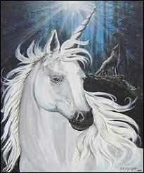 """Mon animal emblématique est la """"licorne""""."""