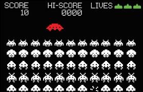 """Le jeu vidéo """"Space Invaders"""" est apparu dans les années 90."""