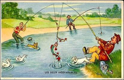 Quel est le nom de la pêche à la ligne consistant à tenir une canne à pêche en attendant que le poisson vienne mordre à l'appât ?