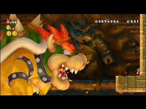 """Dans """"New Super Mario Bros Wii"""", quel personnage fait revivre Bowser pour le boss final ?"""