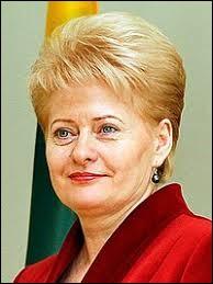 "Ma présidente est ""Dalia Grybauskaitė""."