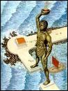 Où se trouve la statue de bronze d'Hélios ( dite le Colosse de Rhodes ) ?