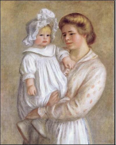 Quel peintre a réalisé cette toile représentant son fils et sa nourrice ?