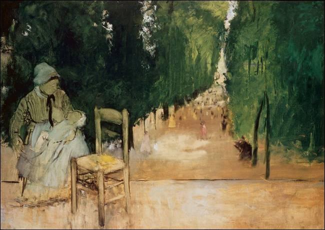 """Qui a peint la toile intitulée """"Une Nourrice au jardin du Luxembourg"""" ?"""