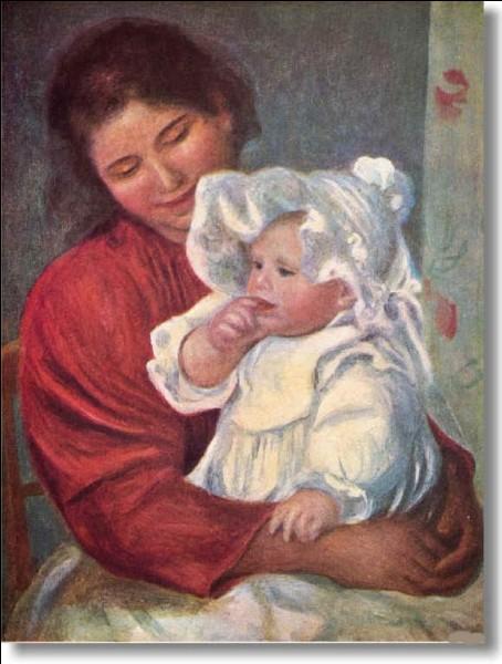 Qui a représenté son fils et sa nourrice ?