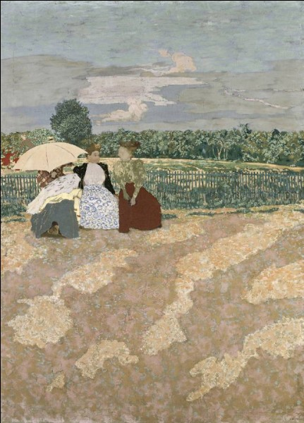 "Qui a peint ""Jardins publics, la nourrice"" ?"