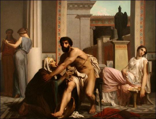 """Qui a peint """"Ulysse reconnu par sa nourrice"""" ?"""