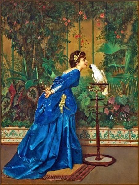 """Qui a peint """"La Jeune Femme et le perroquet"""" ?"""