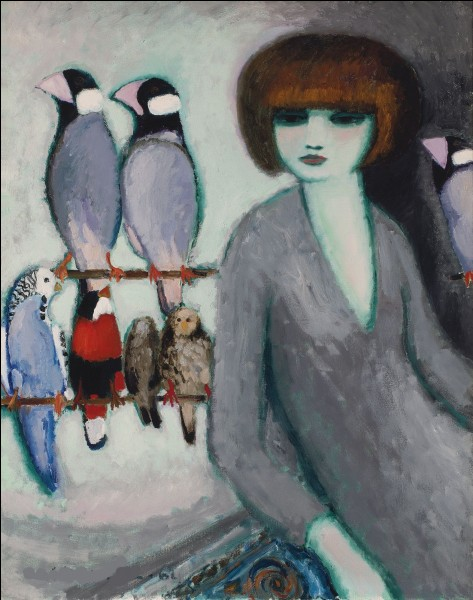 Et enfin, je fais un clin d'œil à mon amie Hestia, en demandant qui a peint cette femme et ces deux perroquets ?