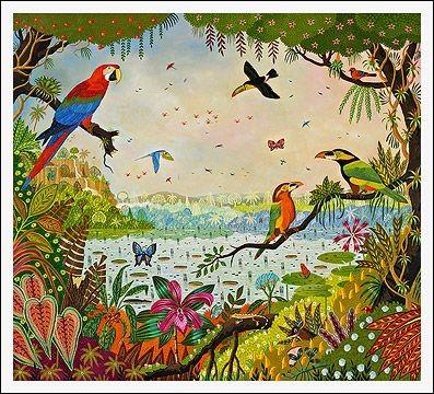 À quel peintre d'art naïf doit-on ces perroquets magnifiquement colorés ?