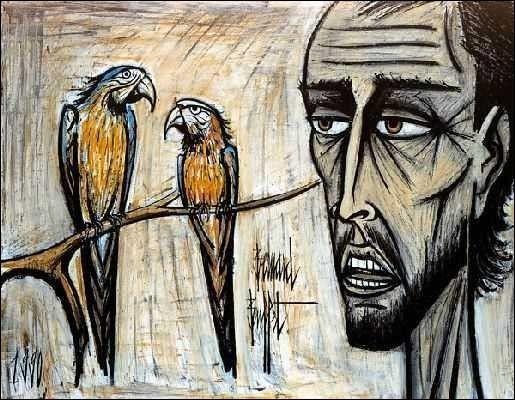 """Qui a représenté """"L'Homme avec deux perroquets"""" ?"""