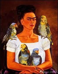 """Ce tableau s'appelle """"Moi et mes perroquets"""", il est signé :"""