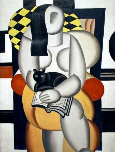 """1881-1955 - """"Femme avec un chat"""" - Peintre français cubiste, art naïf - De qui est cette huile sur toile de 1921 ?"""