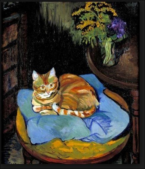 Qui est cette artiste peintre française qui a réalisé cette toile de 1918 du chat Raminou ?
