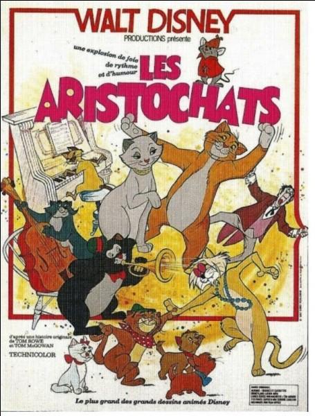 """""""Les Aristochats"""" - Paris 1910 - Madame de Bonnefamille, millionnaire excentrique, vit seule entourée de ses chats : Duchesse, Marie, Toulouse et..."""
