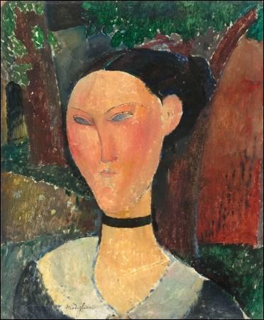 """Qui a réalisé le portrait de cette """"Femme au ruban de velours"""" ?"""