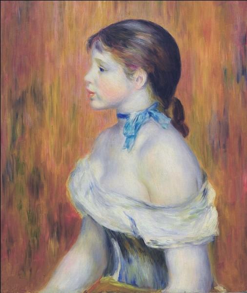 """Et on finit sur la très jolie toile de """"La Jeune Fille au ruban bleu, par :"""