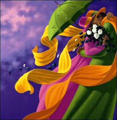 """Ce tableau représente """"L'Amour"""". Qui est cet artiste surréaliste, grand maître des rubans colorés qui tourbillonnent ?"""